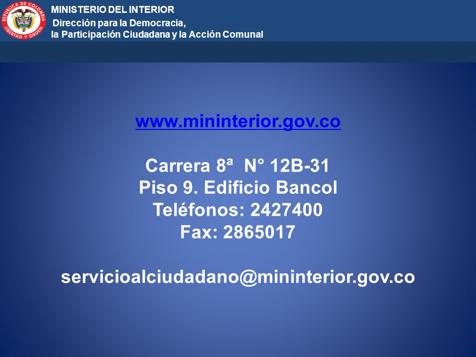 MINISTERIO DEL INTERIOR