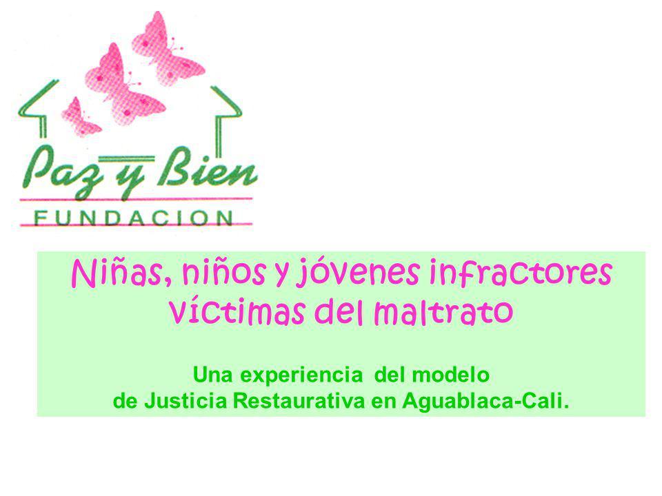 Niñas, niños y jóvenes infractores víctimas del maltrato