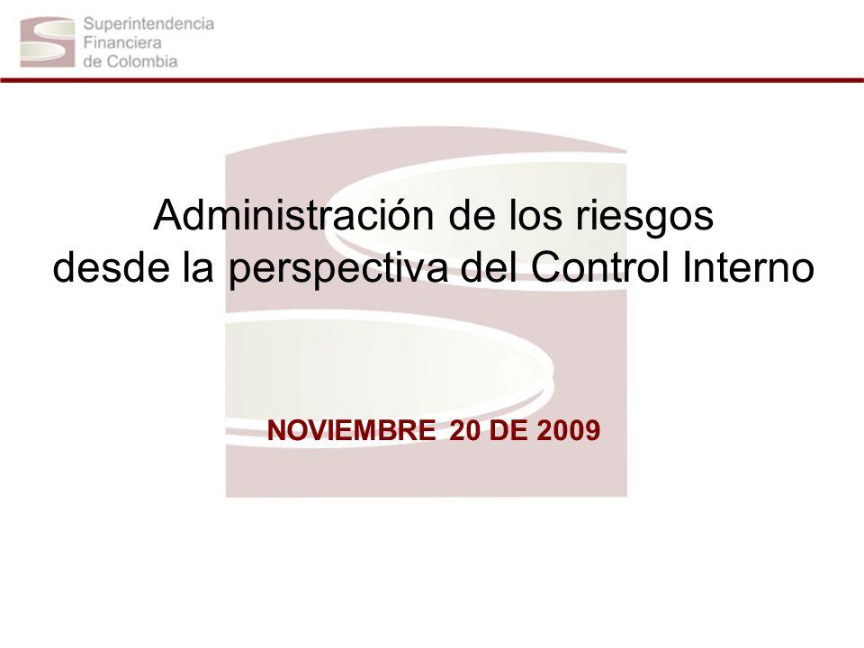 Administración de los riesgos desde la perspectiva del Control Interno