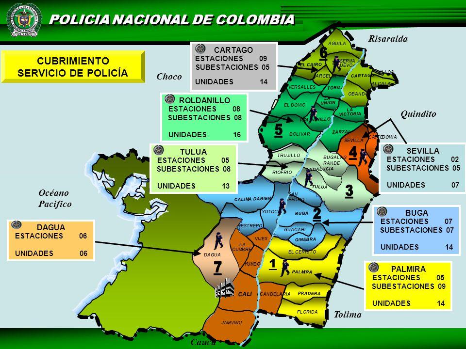 3. CUBRIMIENTO SERVICIO DE POLICÍA Risaralda Choco Quindito Océano
