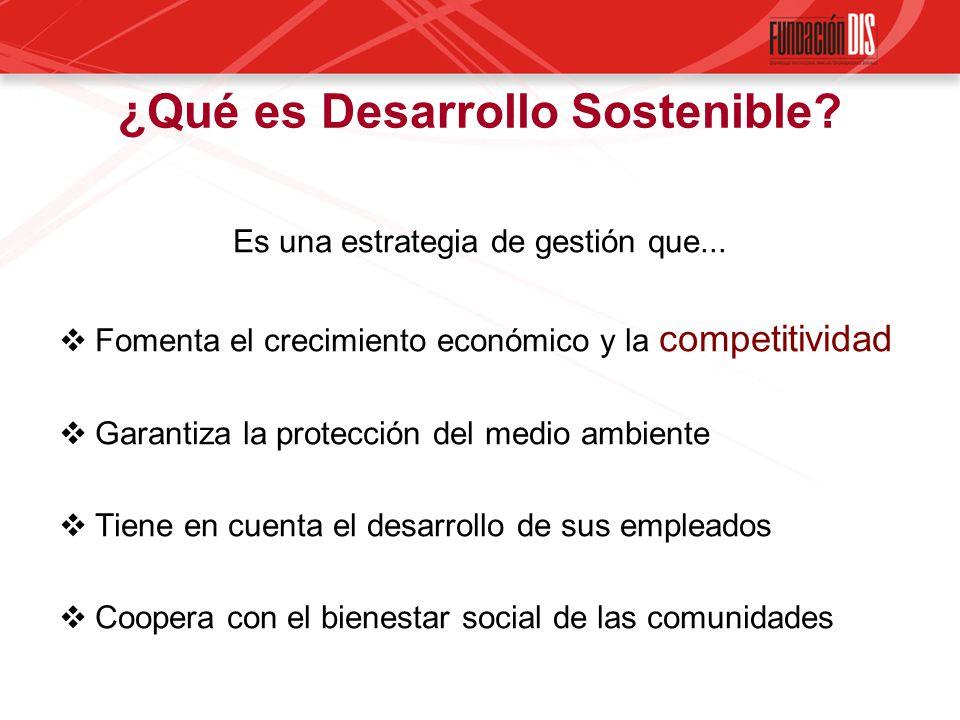 ¿Qué es Desarrollo Sostenible