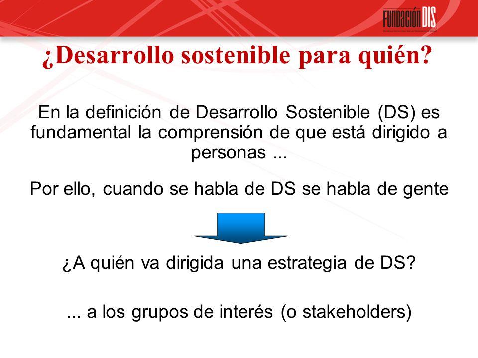 ¿Desarrollo sostenible para quién