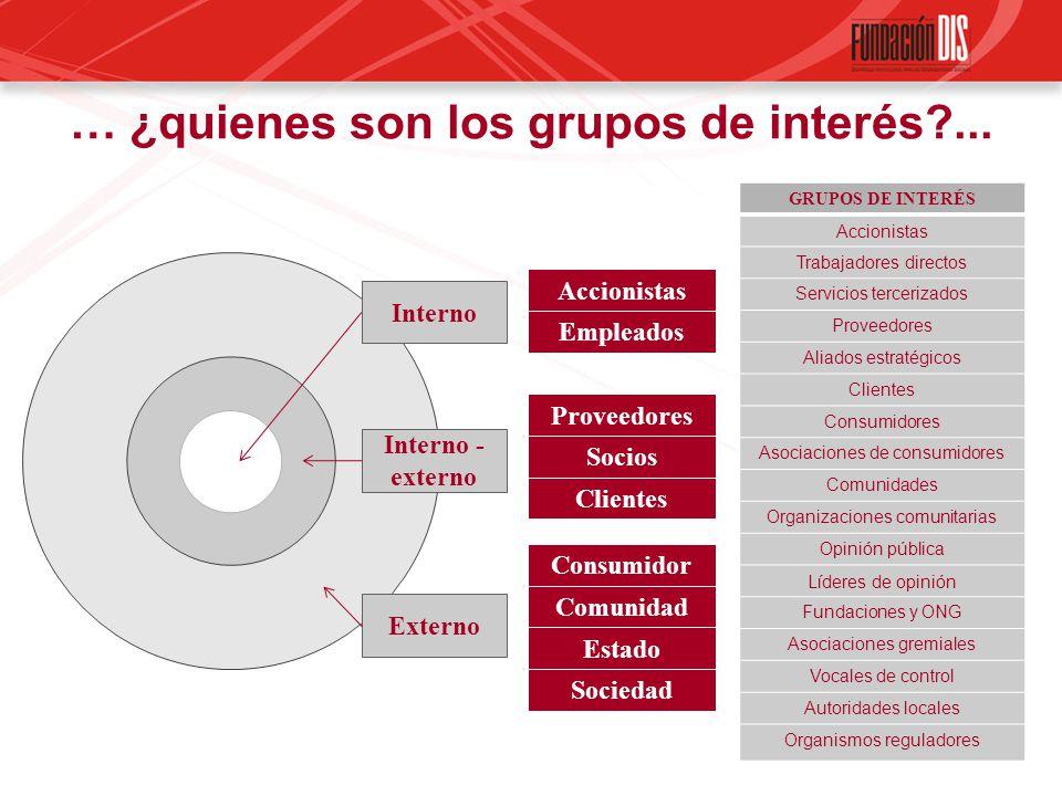 … ¿quienes son los grupos de interés ...