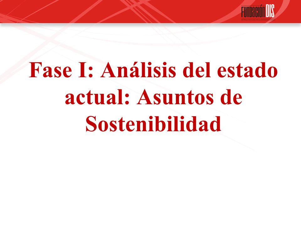 Fase I: Análisis del estado actual: Asuntos de Sostenibilidad
