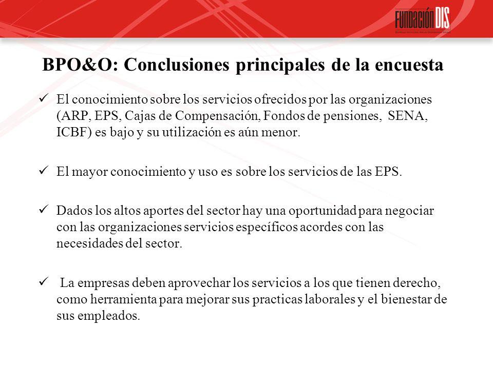 BPO&O: Conclusiones principales de la encuesta
