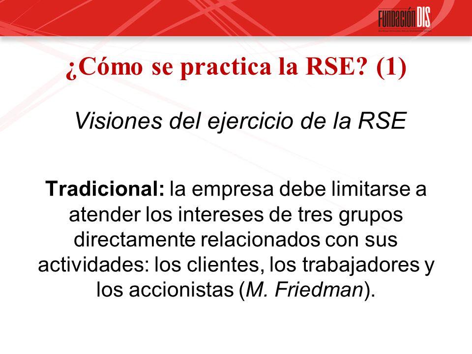 ¿Cómo se practica la RSE (1) Visiones del ejercicio de la RSE