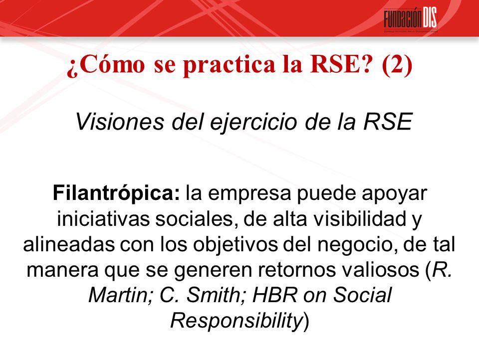 ¿Cómo se practica la RSE (2) Visiones del ejercicio de la RSE