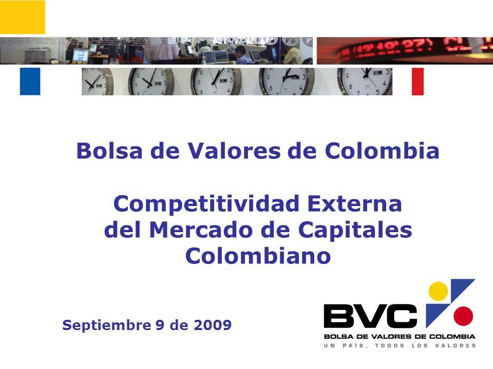 Bolsa de Valores de Colombia Competitividad Externa