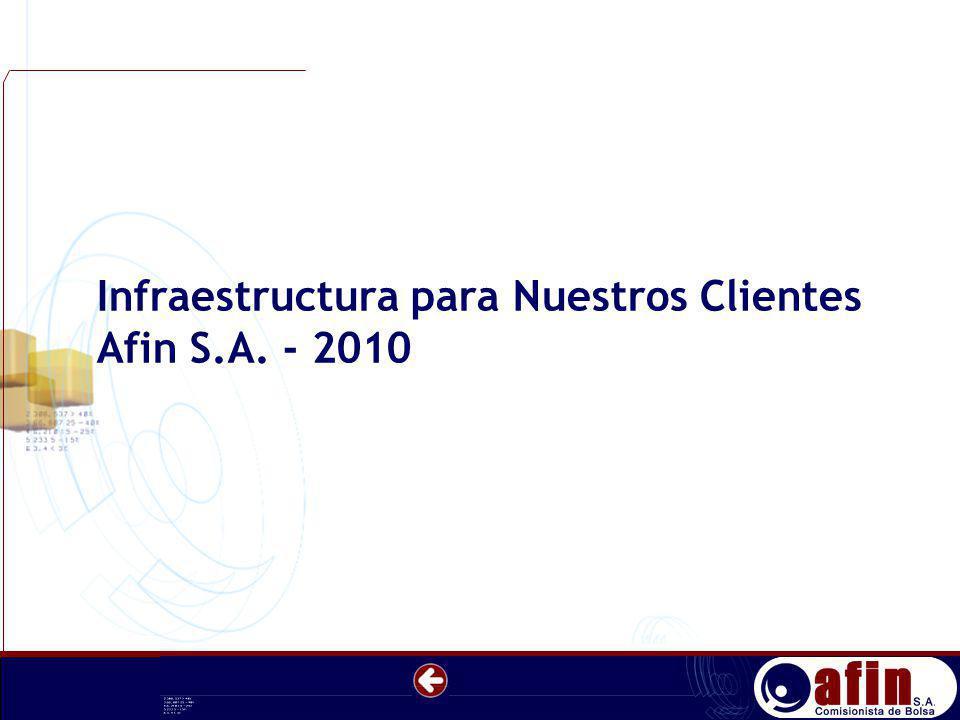 Infraestructura para Nuestros Clientes Afin S.A. - 2010