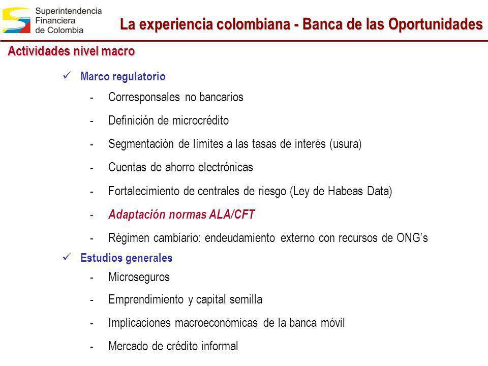 La experiencia colombiana - Banca de las Oportunidades