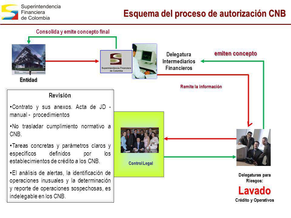 Delegatura Intermediarios Financieros Lavado Crédito y Operativos