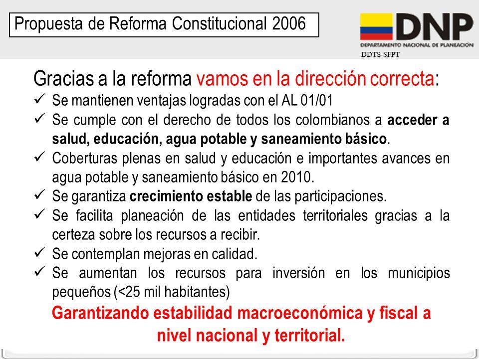 Gracias a la reforma vamos en la dirección correcta: