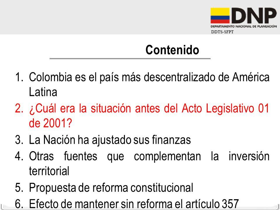 Contenido Colombia es el país más descentralizado de América Latina