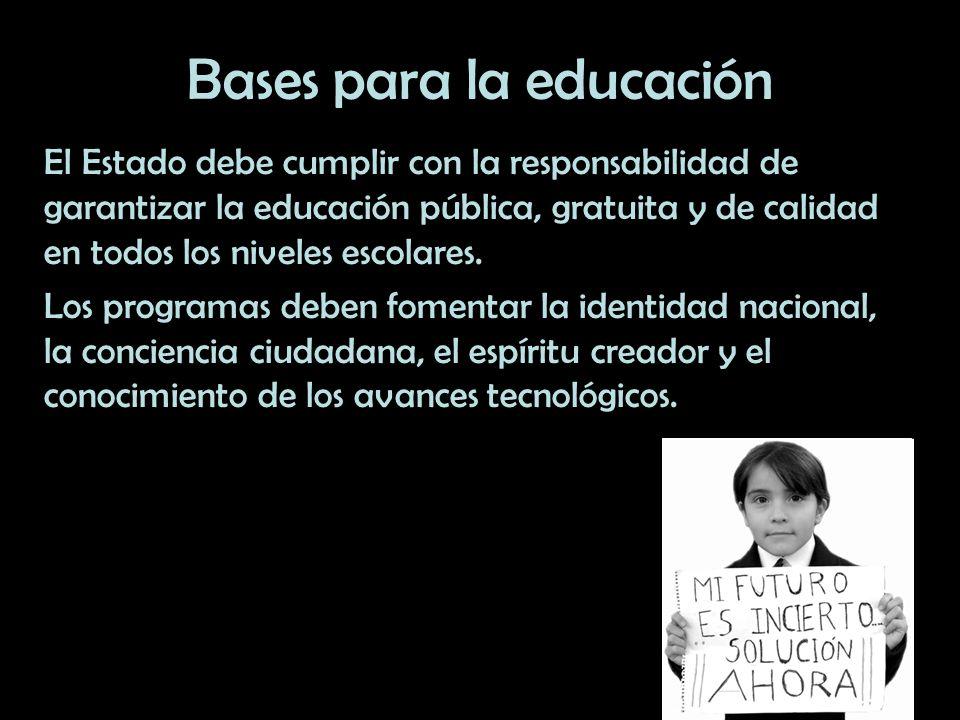Bases para la educación