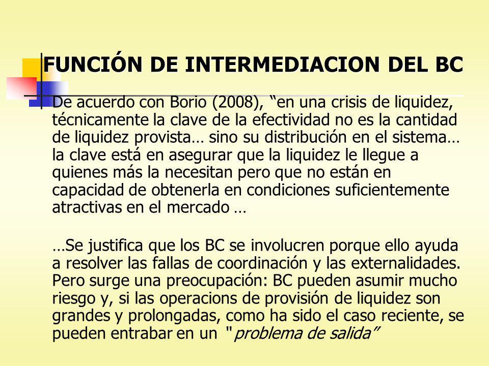 FUNCIÓN DE INTERMEDIACION DEL BC