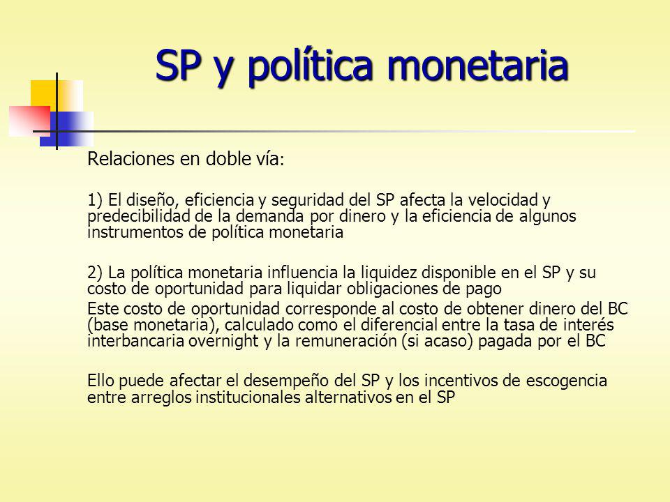 SP y política monetaria