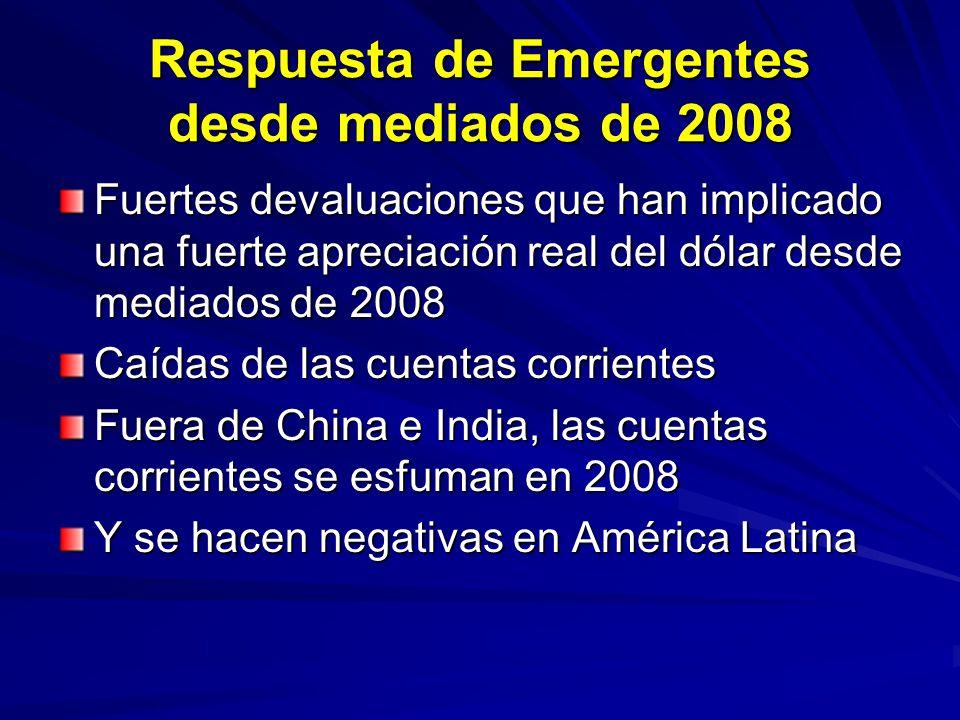Respuesta de Emergentes desde mediados de 2008