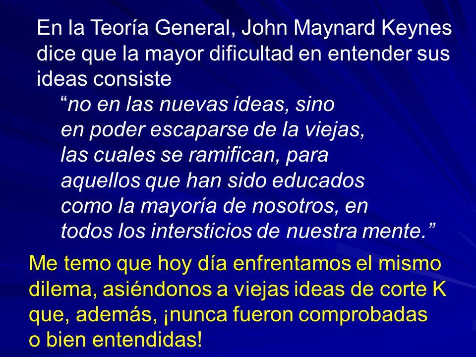 En la Teoría General, John Maynard Keynes