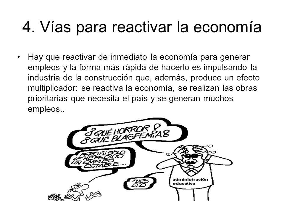 4. Vías para reactivar la economía
