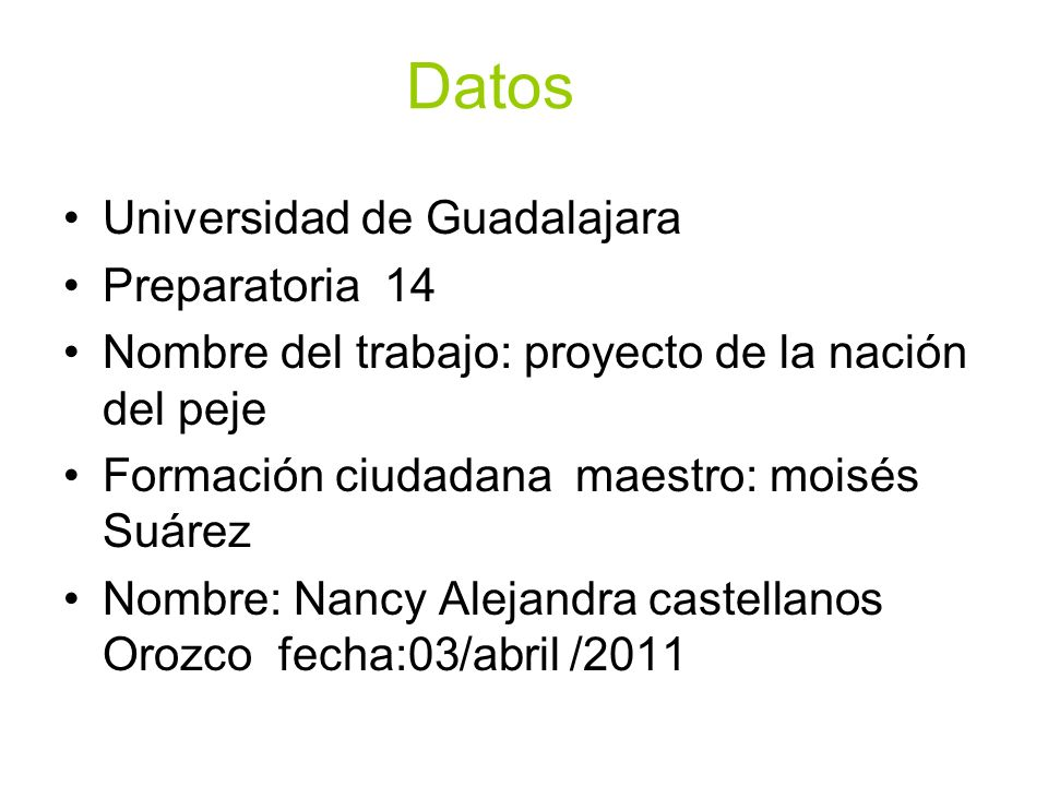 Datos Universidad de Guadalajara Preparatoria 14