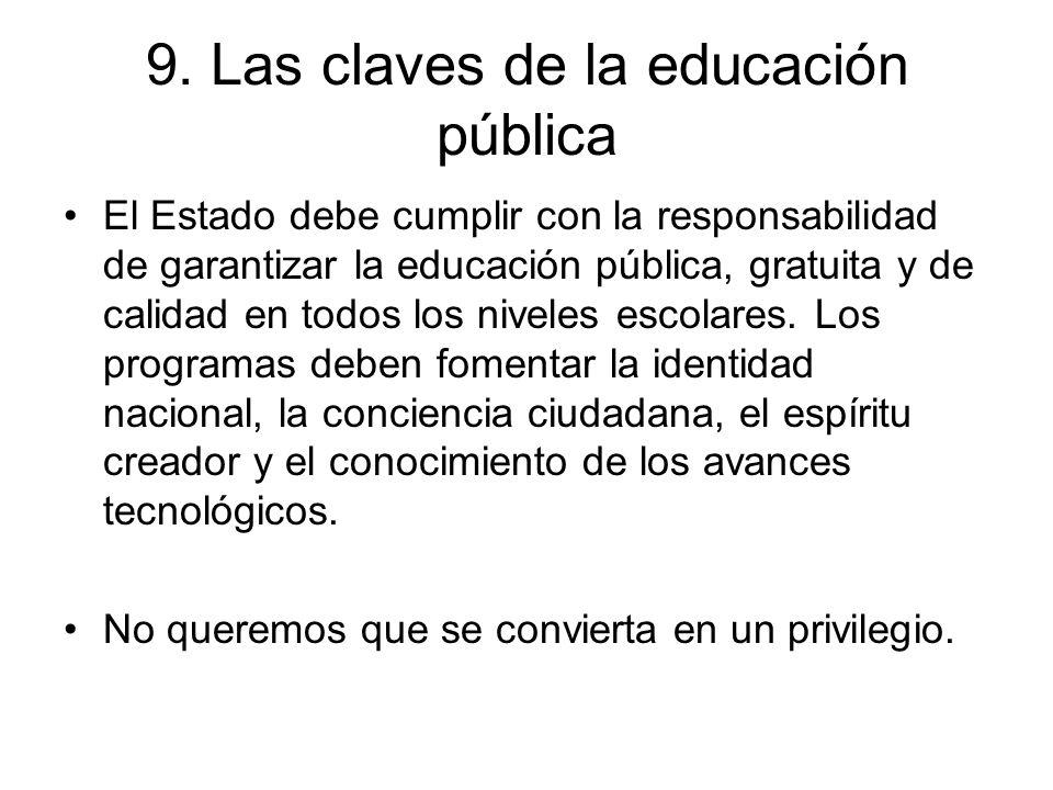 9. Las claves de la educación pública