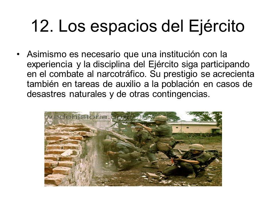12. Los espacios del Ejército