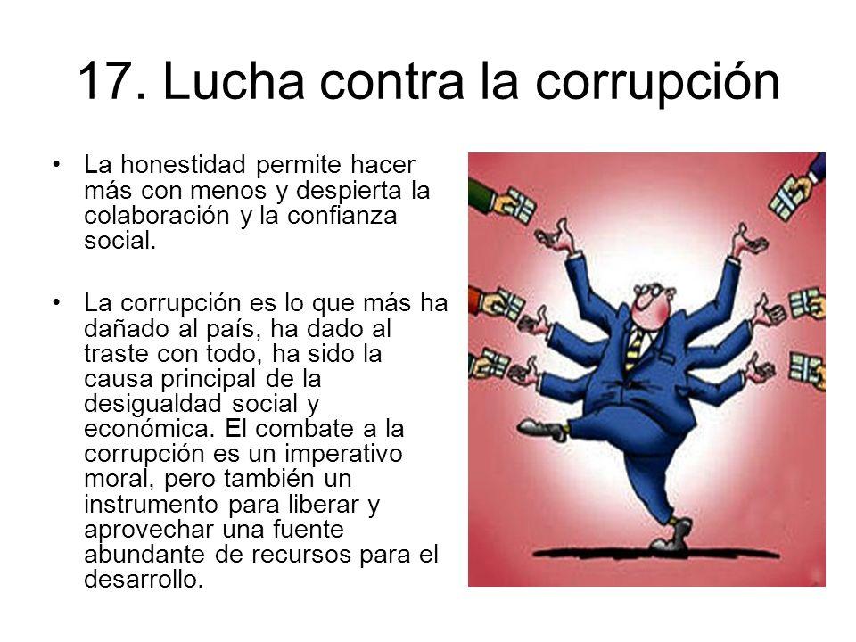 17. Lucha contra la corrupción