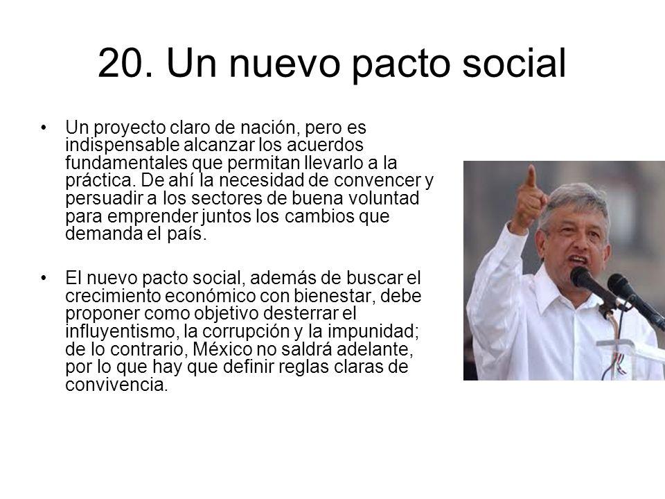 20. Un nuevo pacto social