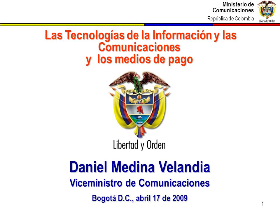 Daniel Medina Velandia Viceministro de Comunicaciones