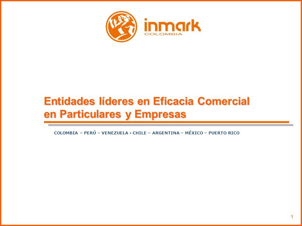 Entidades líderes en Eficacia Comercial en Particulares y Empresas