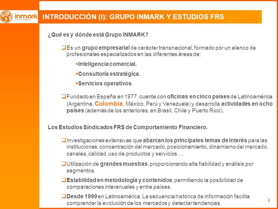 INTRODUCCIÓN (I): GRUPO INMARK Y ESTUDIOS FRS