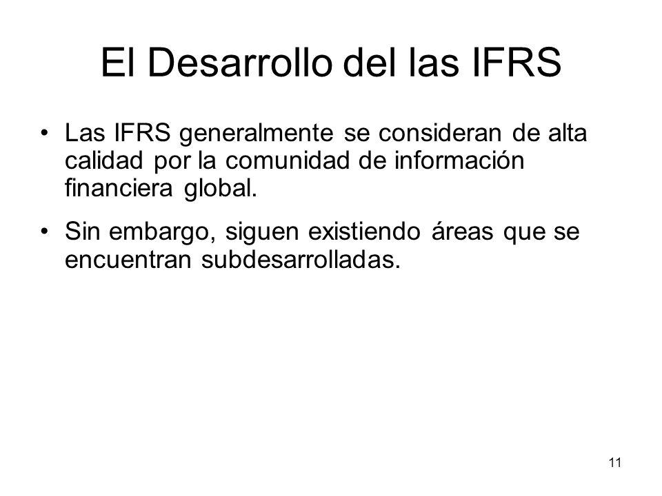 El Desarrollo del las IFRS