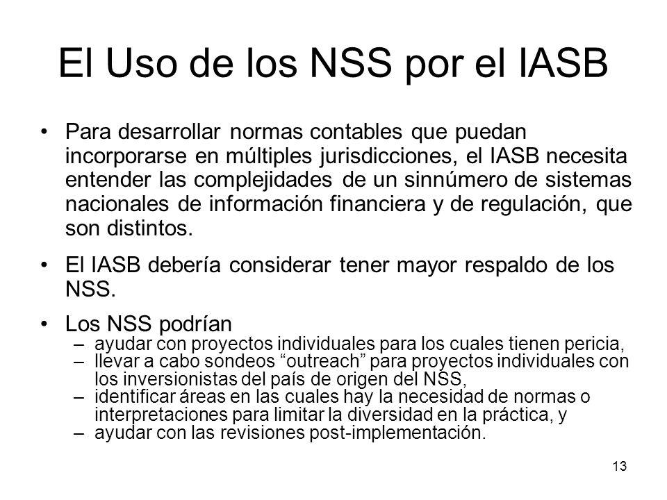 El Uso de los NSS por el IASB