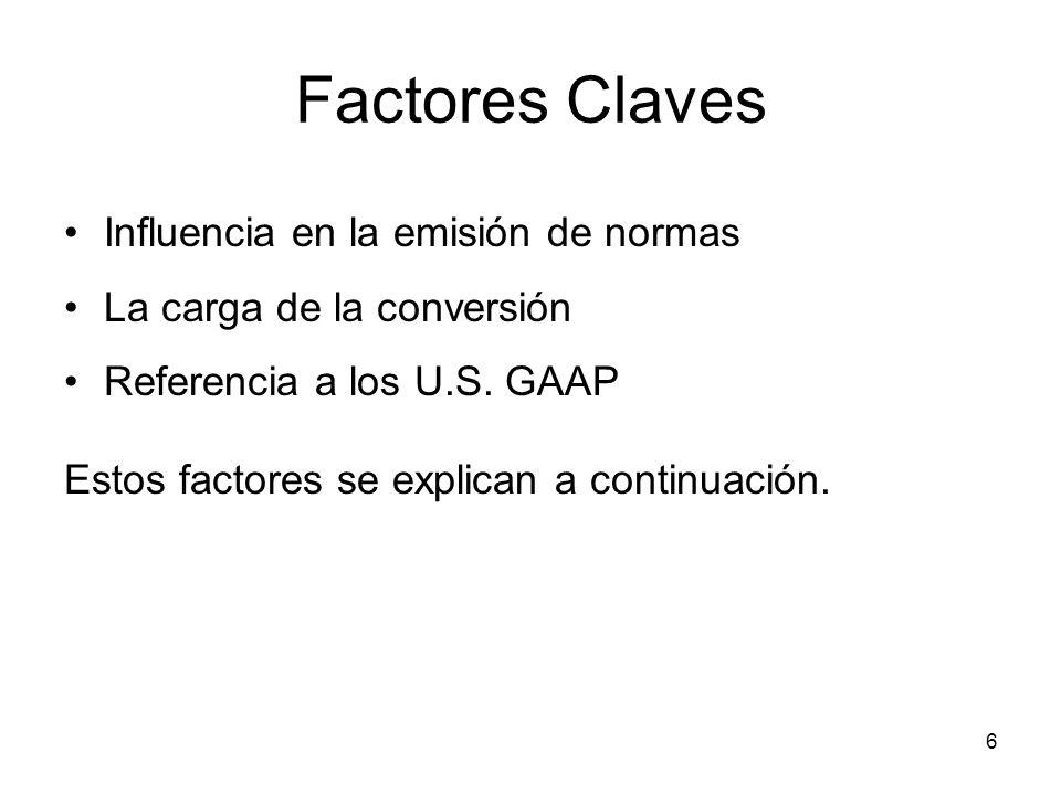 Factores Claves Influencia en la emisión de normas