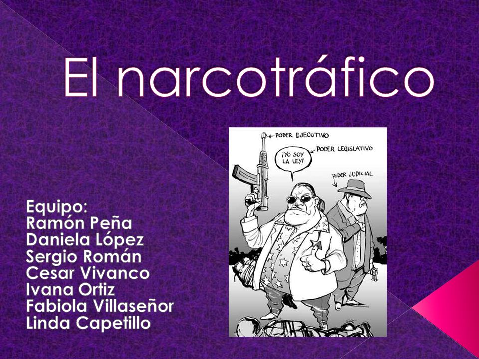 El narcotráfico Equipo: Ramón Peña Daniela López Sergio Román