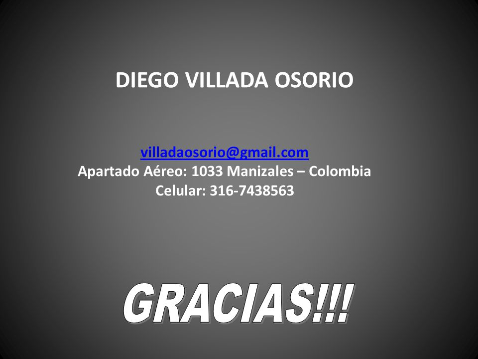 Apartado Aéreo: 1033 Manizales – Colombia
