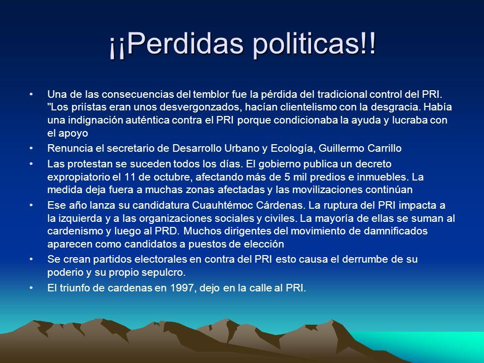 ¡¡Perdidas politicas!!