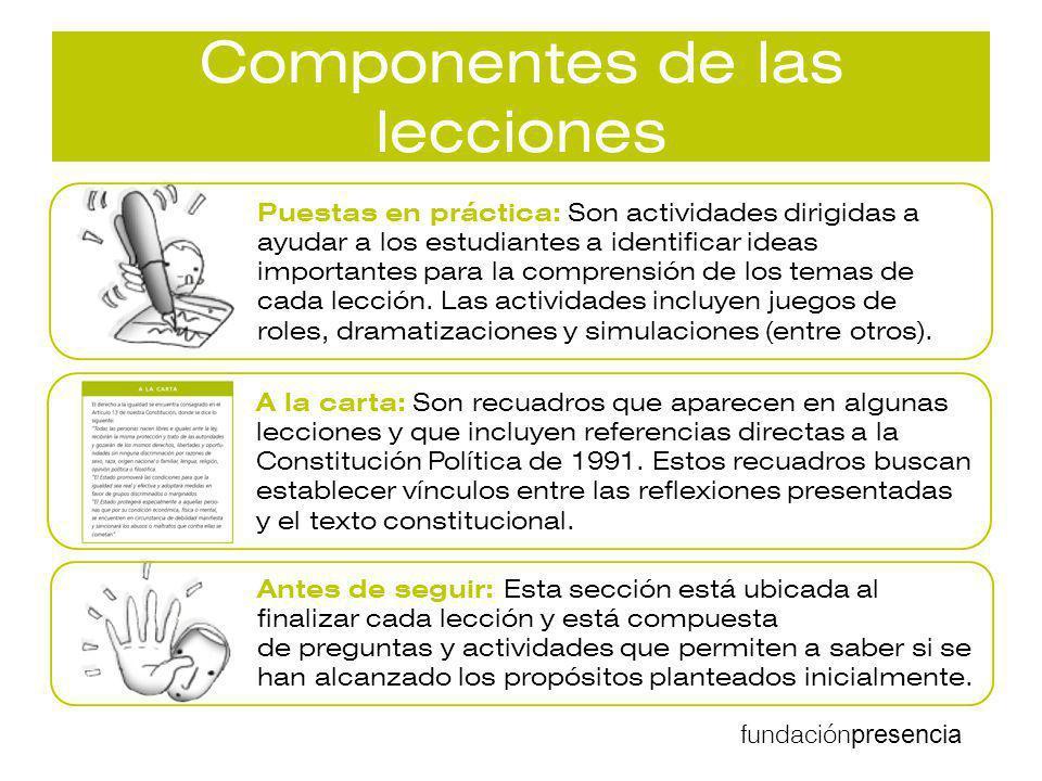 Componentes de las lecciones