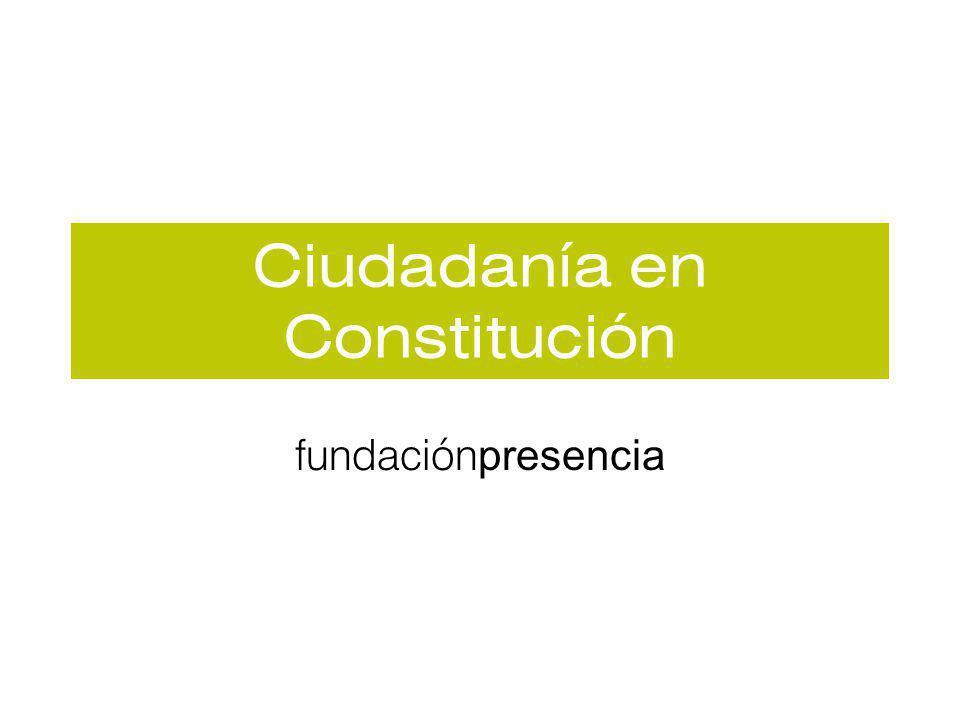 Ciudadanía en Constitución