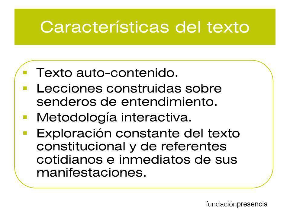 Características del texto