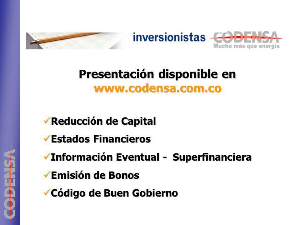 Presentación disponible en www.codensa.com.co