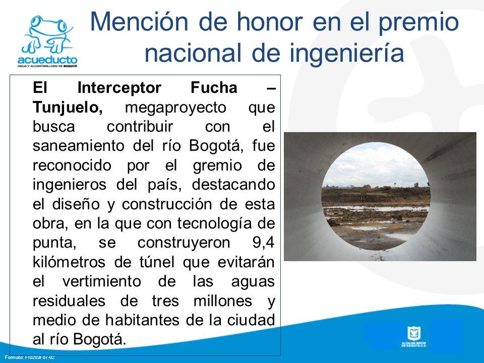 Mención de honor en el premio nacional de ingeniería