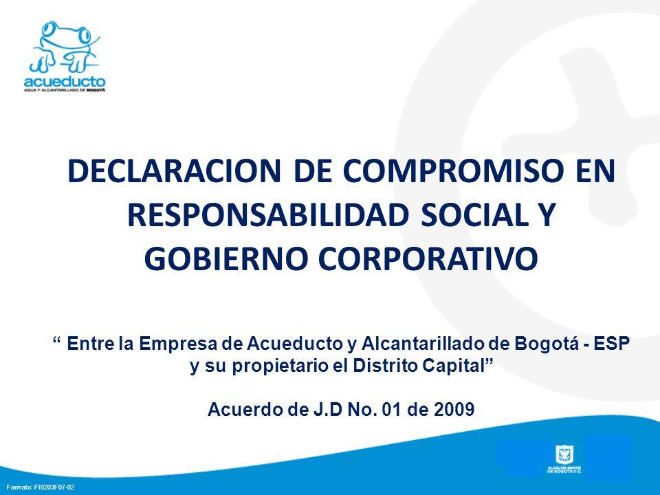 DECLARACION DE COMPROMISO EN RESPONSABILIDAD SOCIAL Y GOBIERNO CORPORATIVO