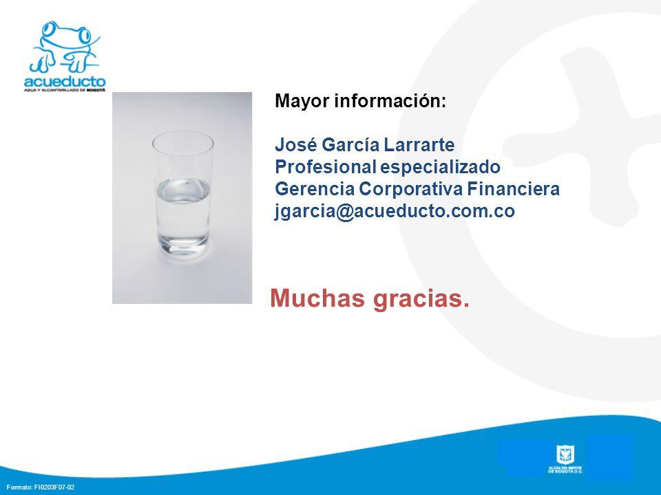 Muchas gracias. Mayor información: José García Larrarte