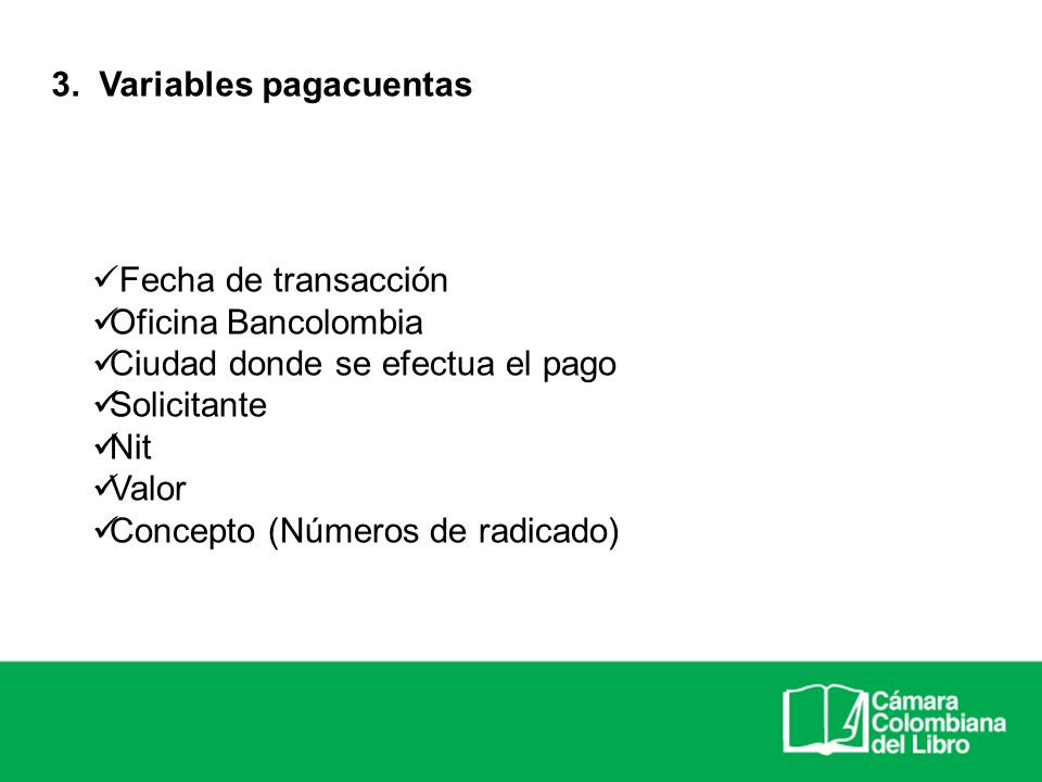 3. Variables pagacuentas