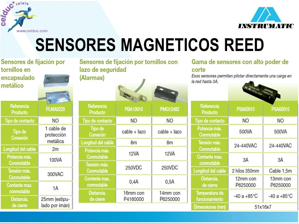 SENSORES MAGNETICOS REED