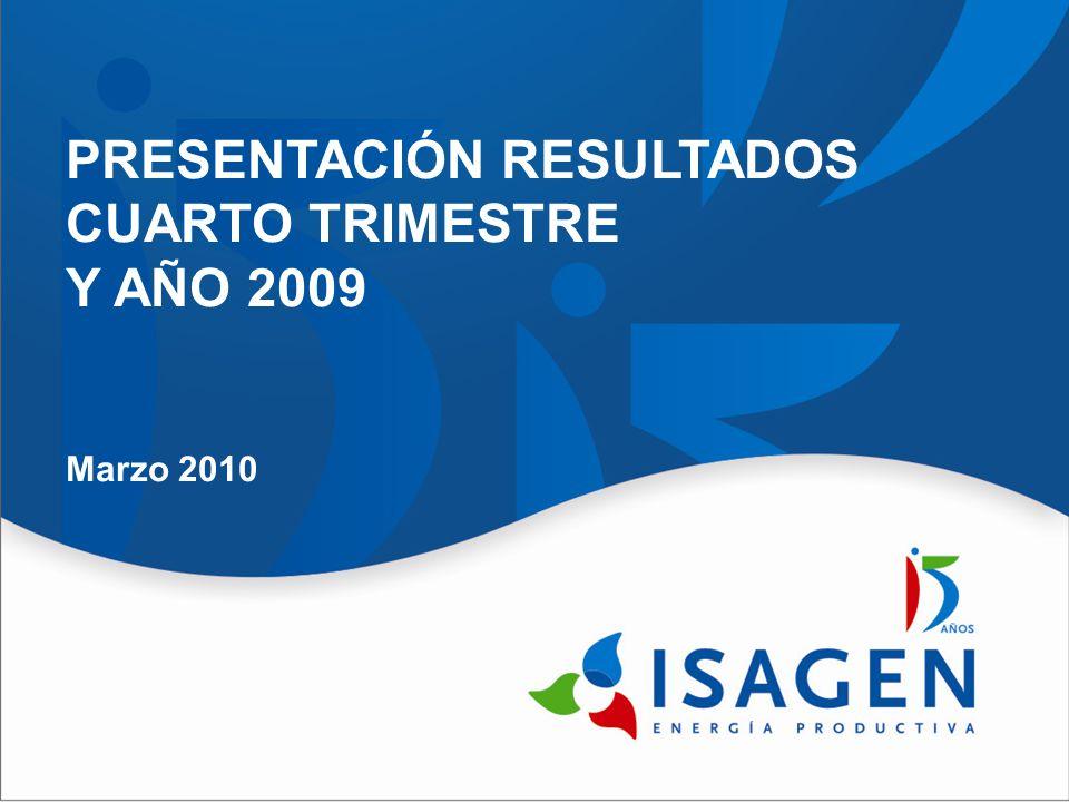 PRESENTACIÓN RESULTADOS CUARTO TRIMESTRE Y AÑO 2009