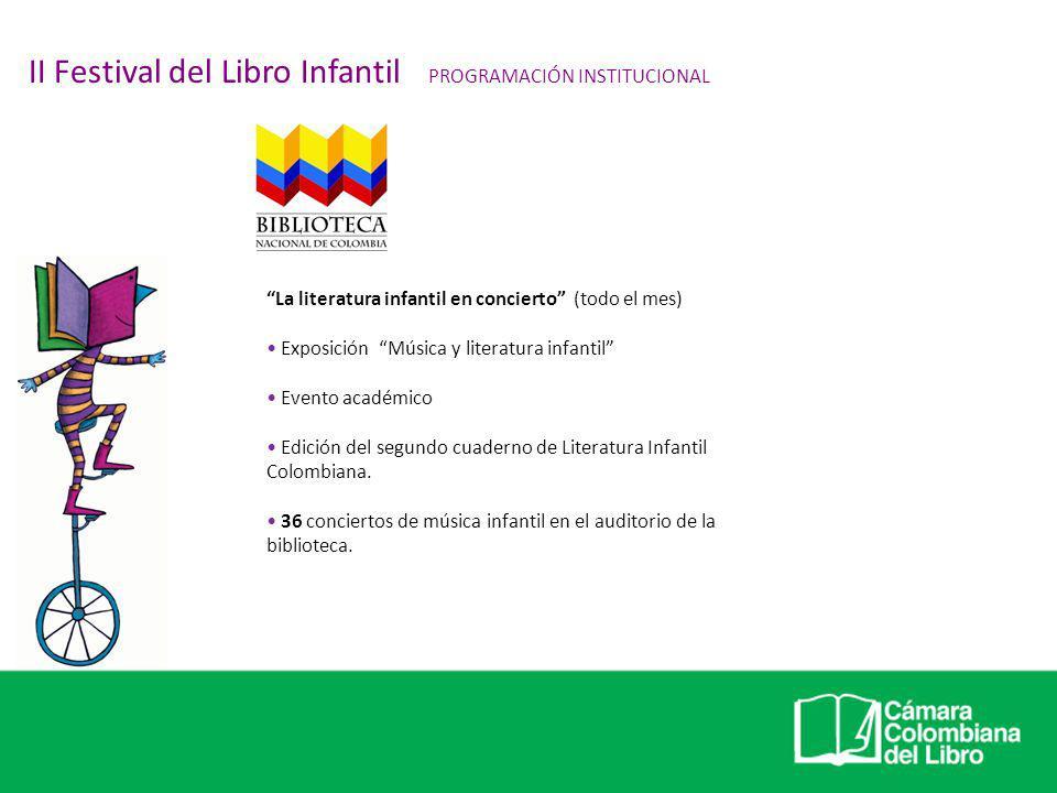 II Festival del Libro Infantil PROGRAMACIÓN INSTITUCIONAL