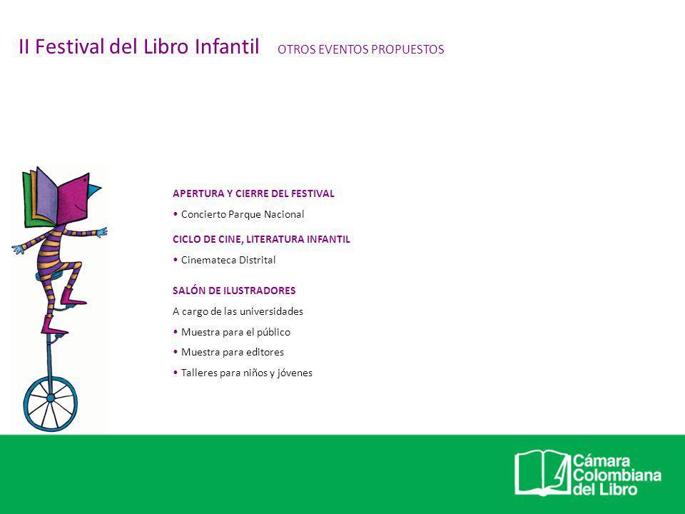 II Festival del Libro Infantil OTROS EVENTOS PROPUESTOS