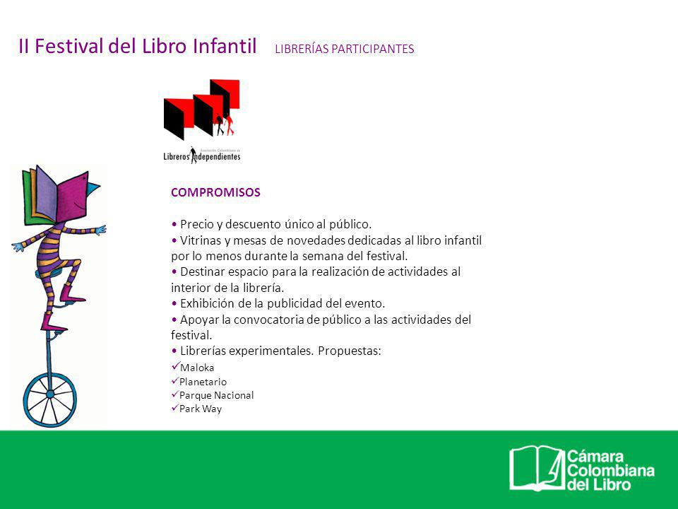 II Festival del Libro Infantil LIBRERÍAS PARTICIPANTES